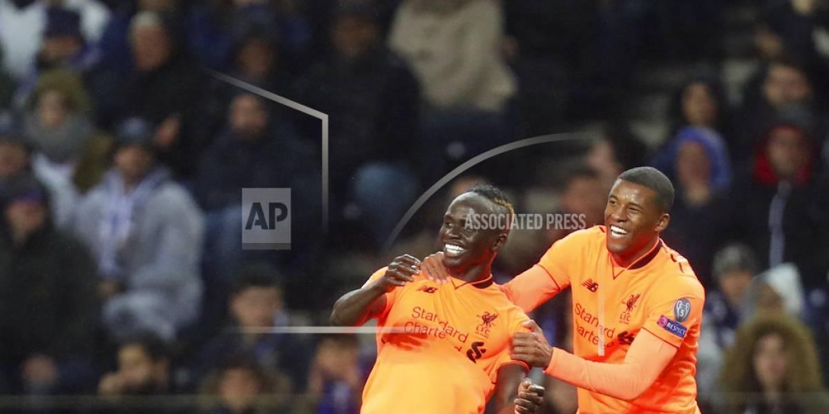 Liverpool golea a Porto y coloca pie en cuartos