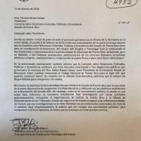 Cartas de los secretarios de la gobernación al Senado.