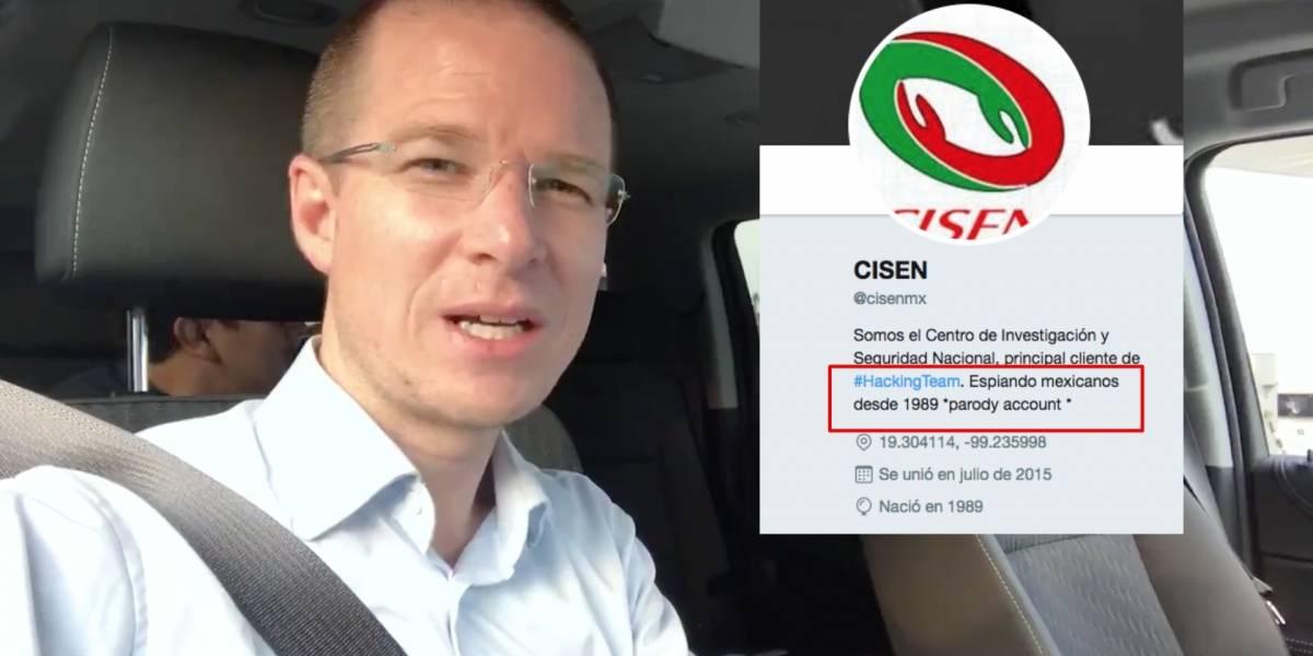 """Cuenta parodia del Cisen es la """"ganadora"""" en el escándalo denunciado por Anaya"""