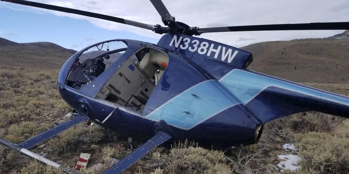 Alce salta, derriba helicóptero y muere mientras intentaban capturarlo