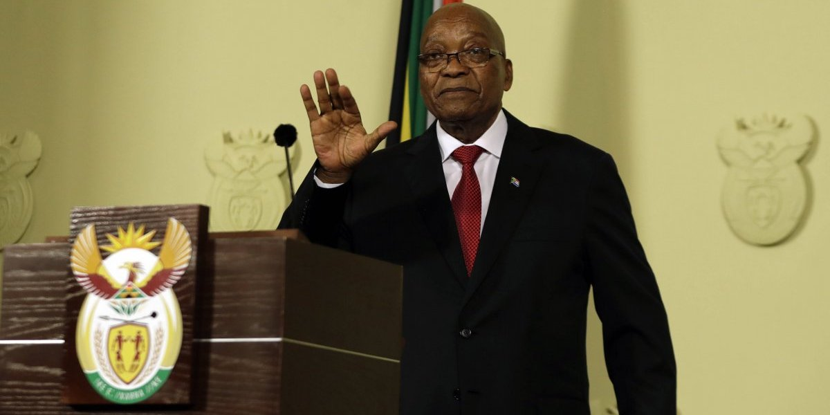 "Presidente de Sudáfrica Jacob Zuma presenta su renuncia ""con efecto inmediato"""