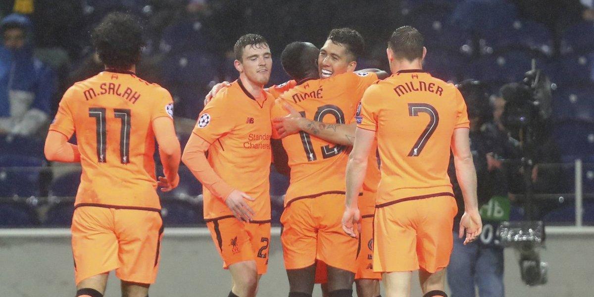 Liverpool humilló al Porto de visita y quedó con pie y medio en los cuartos de final de la Champions