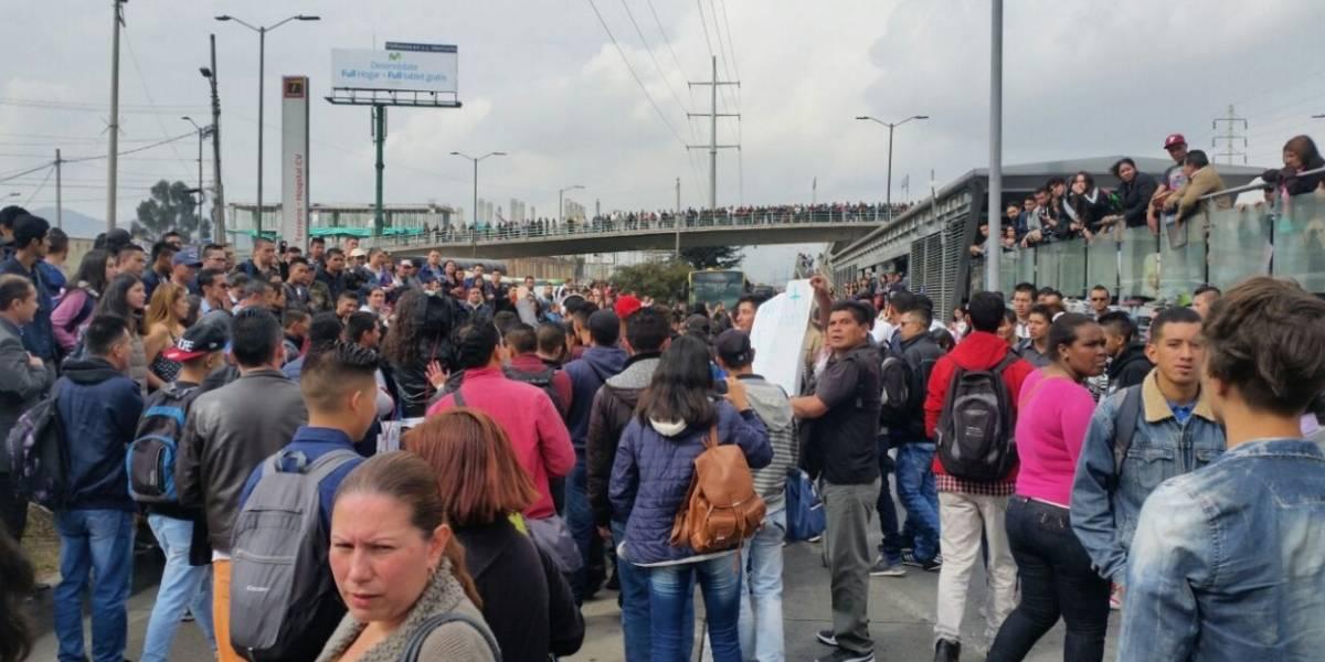 Cinco estaciones de TransMilenio están cerradas por protestas en el sur de Bogotá