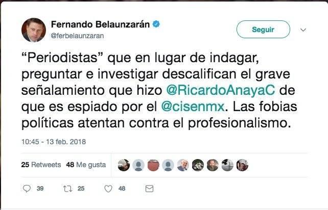 Cuentas que cayeron en @CisenMX Foto: Twitter