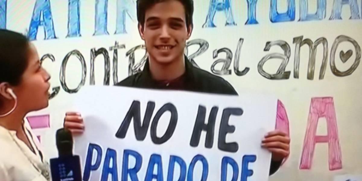 Perú: Joven pide ayuda para volver a ver al 'amor de su vida'