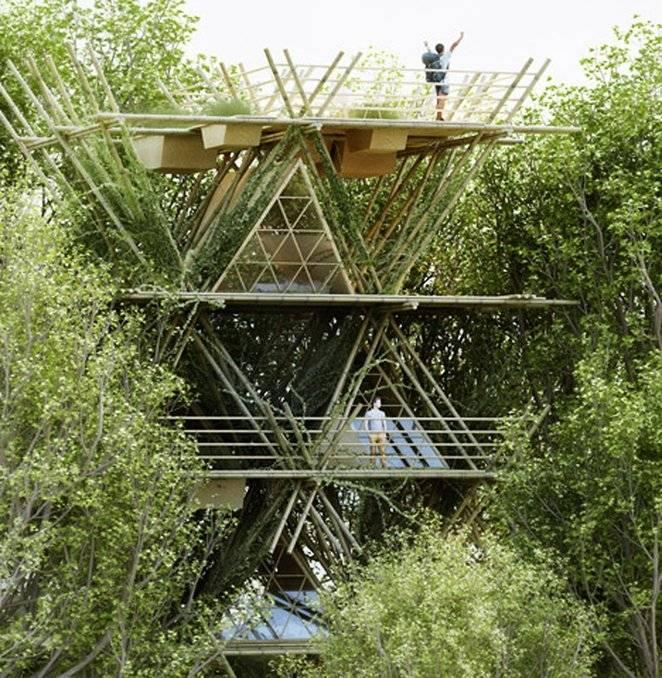 Crean Hotel Vertical Con Módulos De Bambú Veoverde Nueva