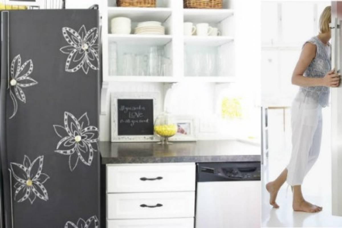 Diy pintura de pizarra en la cocina belel nueva mujer - Como pintar sobre formica ...