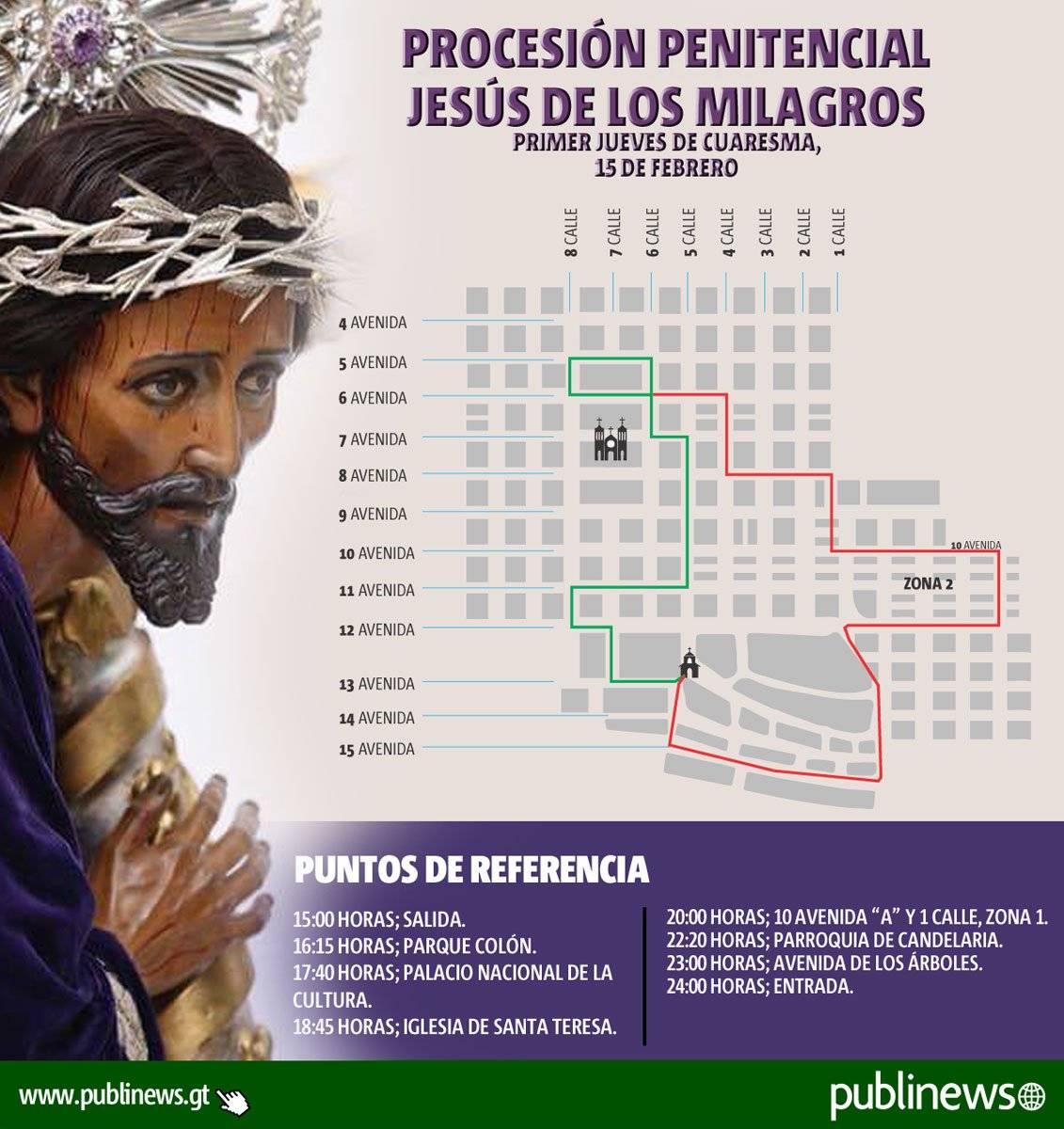 Recorrido de procesión penitencial de San José