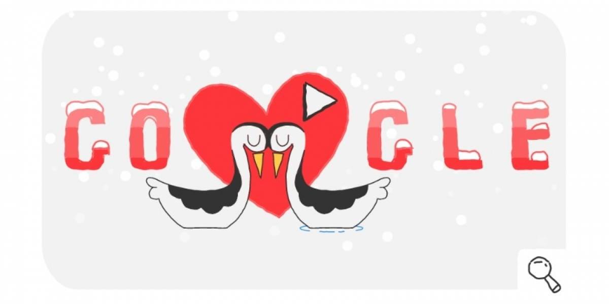 Google celebra día de San Valentín y Juegos Olímpicos de Invierno con un Doodle especial