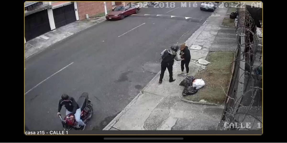 VIDEO. Captan momento exacto de asalto a una peatón en zona 15