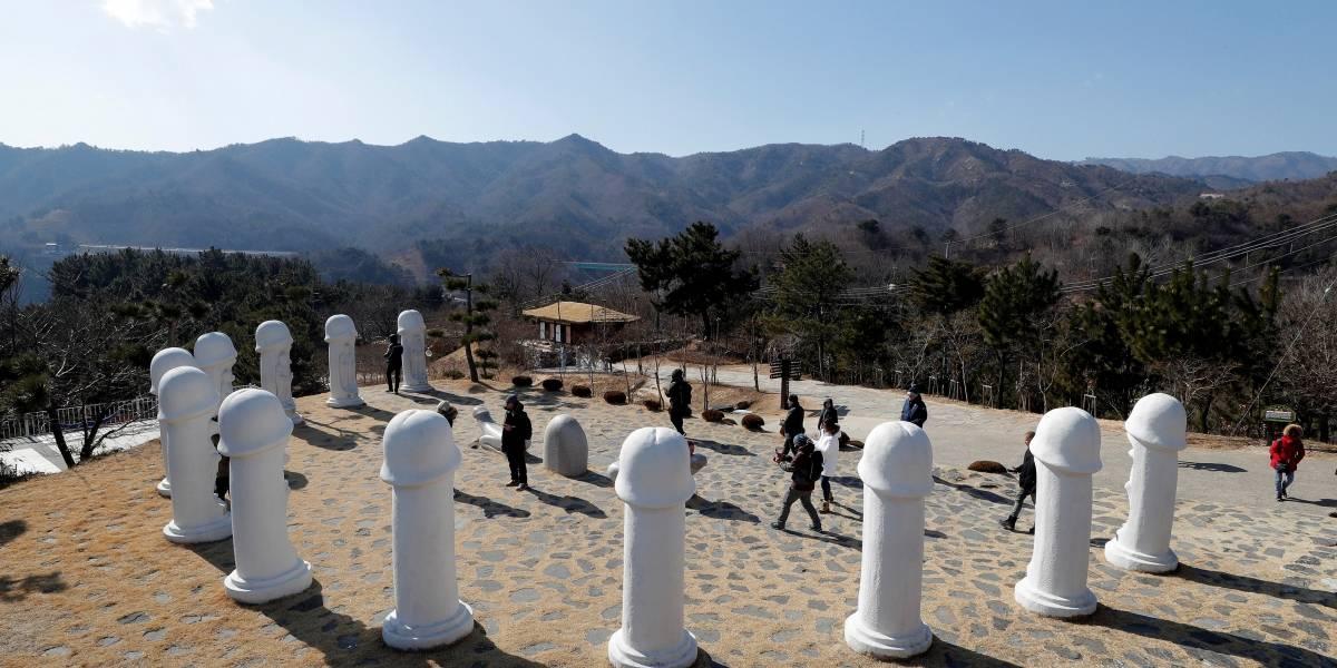 'Parque do Pênis' vira atração turística em Jogos Olímpicos de Inverno