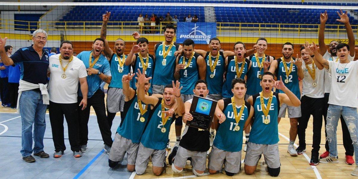 Pitirres de la UNE repiten como campeones de voleibol LAI