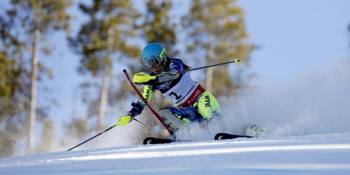 Noelle Barahona no pudo completar la prueba en su debut en los Juegos Olímpicos de Invierno 2018