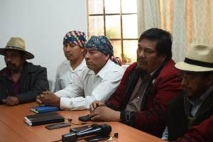 Autoridades indígenas por elección de fiscal general