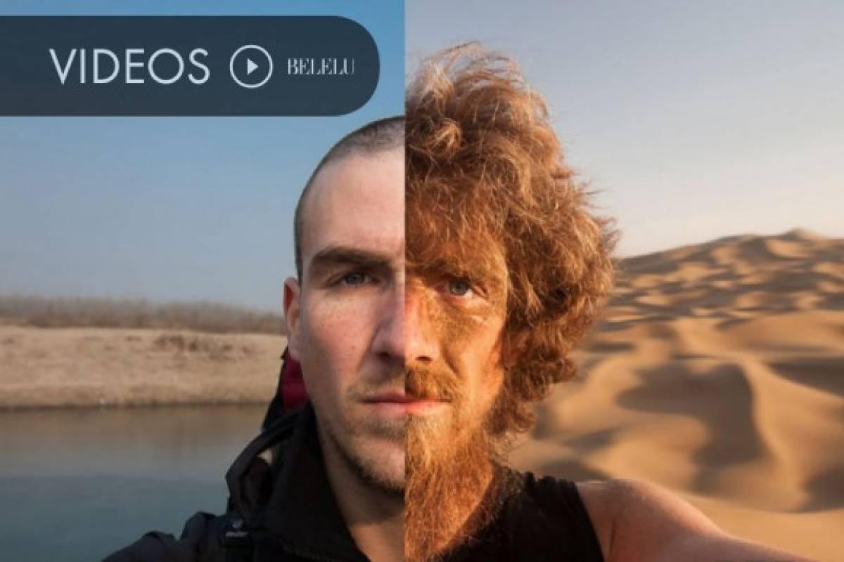 El hombre que caminó 4646 km desde China durante un año