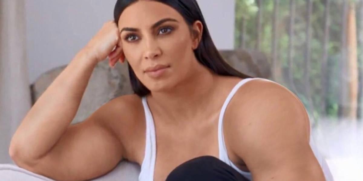 No entendemos por qué pero estas fotos de Kim Kardashian con brazos de Hulk están volviendo locos a todos en las redes sociales