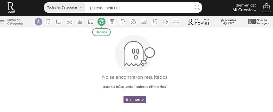Pantallazo web de Ripley
