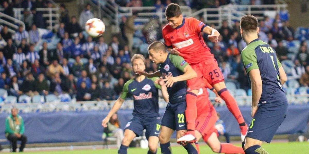 Héctor Moreno debutó con la Real Sociedad en Europa League