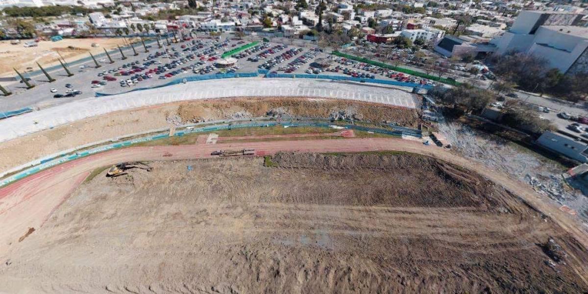 Lo que quedó del estadio Tecnológico de Rayados del Monterrey