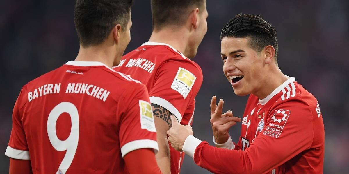 James Rodríguez liderará al Bayern en su visita al Wolfsburgo