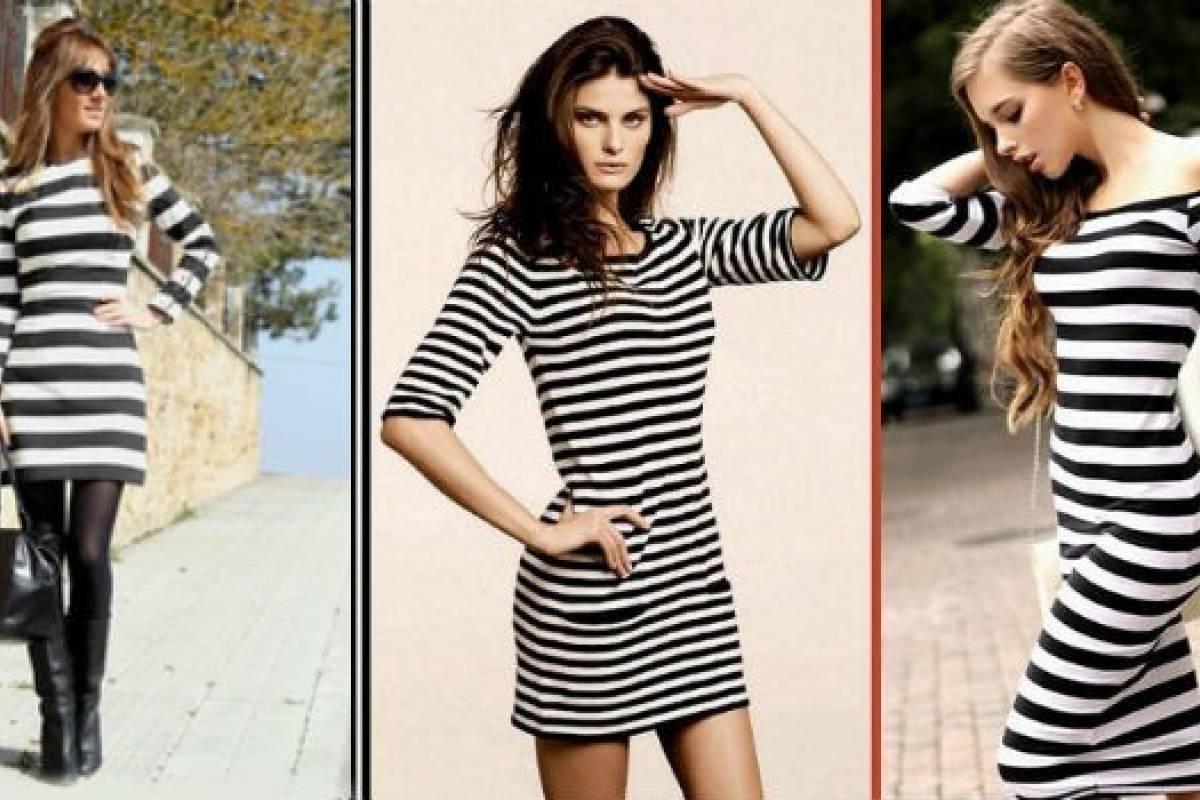 Vestido rayas negras y blancas
