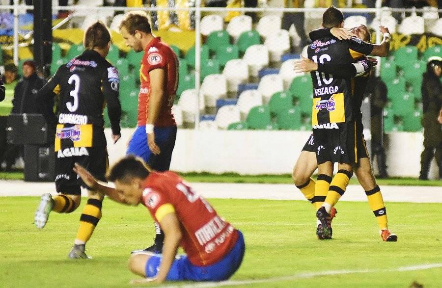 The Strongest apabulló en La Paz a la Unión Española de Martín Palermo en la segunda ronda de la Libertadores 2017 / Foto: Agencia UNO