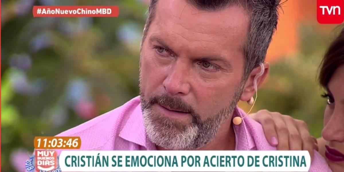 No lo está pasando bien: Cristián Sánchez rompe en llanto durante emisión del matinal