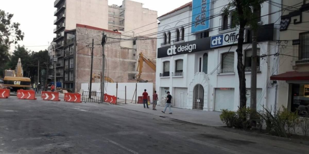 Desalojan edificios aledaños a Álvaro Obregón 286