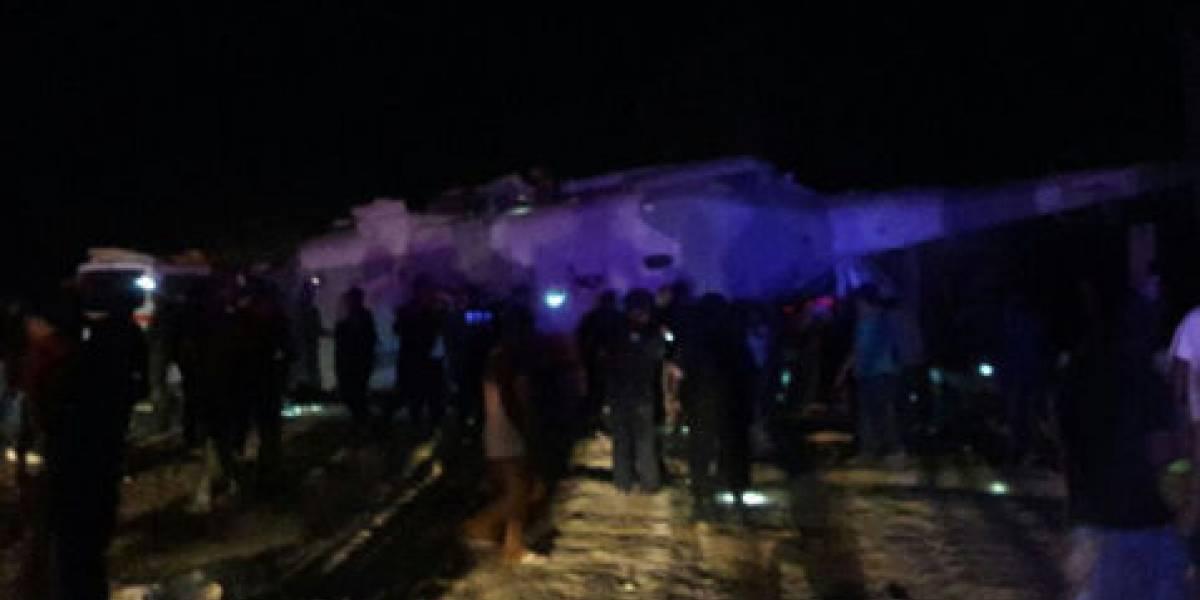 Cae helicóptero en el que viajaban Navarrete Prida y Murat; hay dos muertos