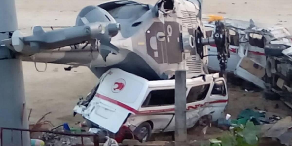 Así quedó el lugar del desplome de helicóptero militar en Oaxaca