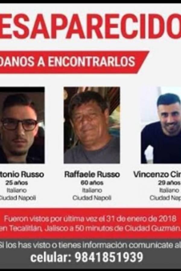Desaparecen tres italianos en el sur de Jalisco, implican a la policía
