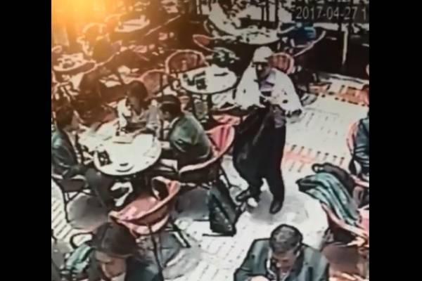 Hombre tercera edad roba restaurantes