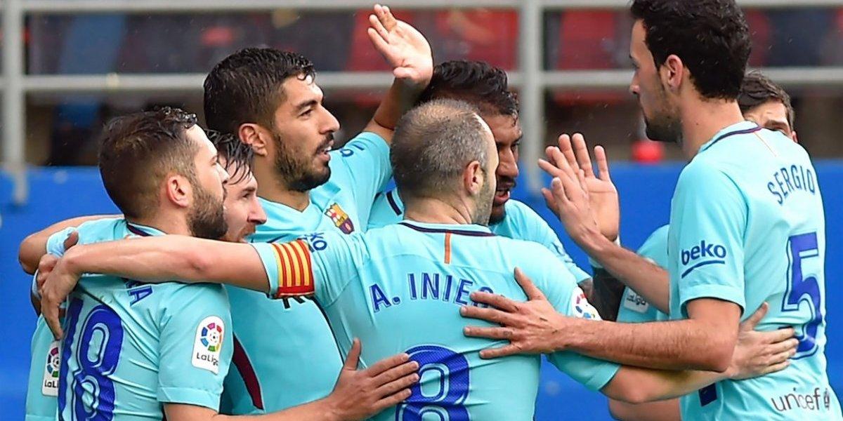 El Barcelona festeja ante el Éibar e iguala récord de Guardiola