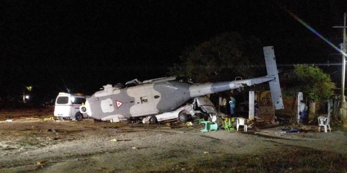 Suman 14 muertos tras accidente de helicóptero del gobierno en Oaxaca