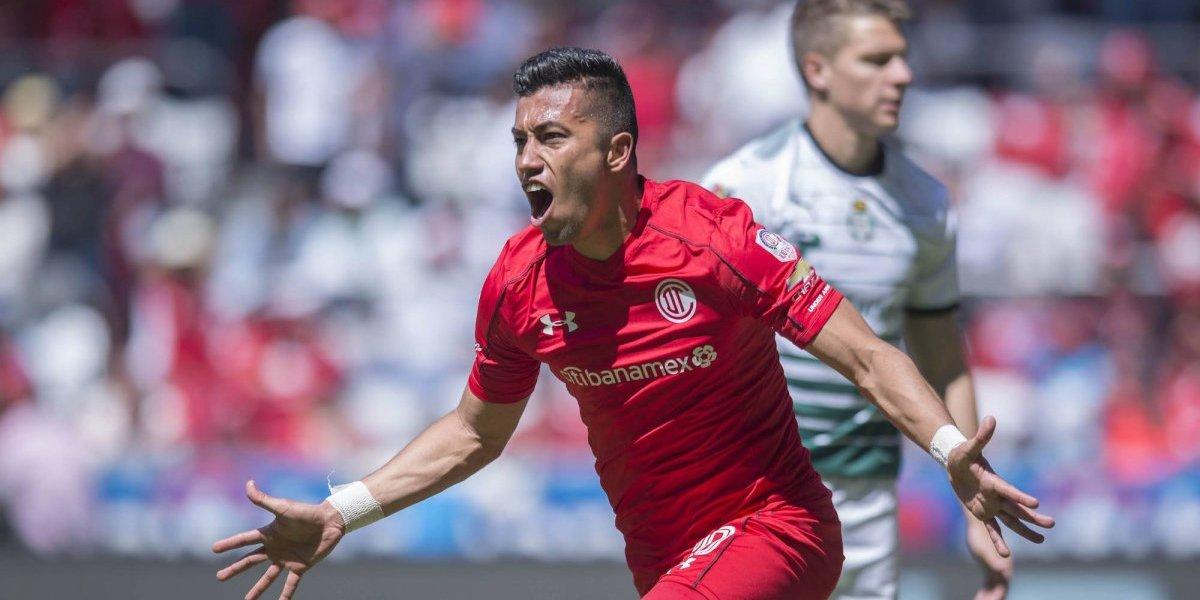 Toluca logró su segundo triunfo en fila frente a Santos
