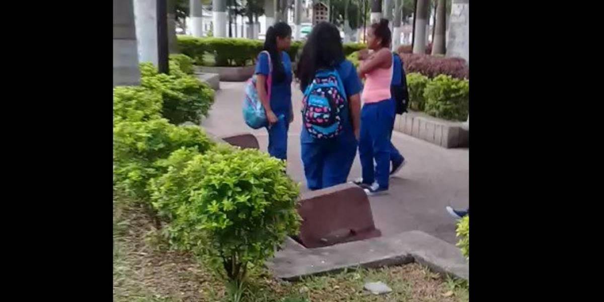 VIDEO: Joven resulta herida en nueva pelea entre estudiantes