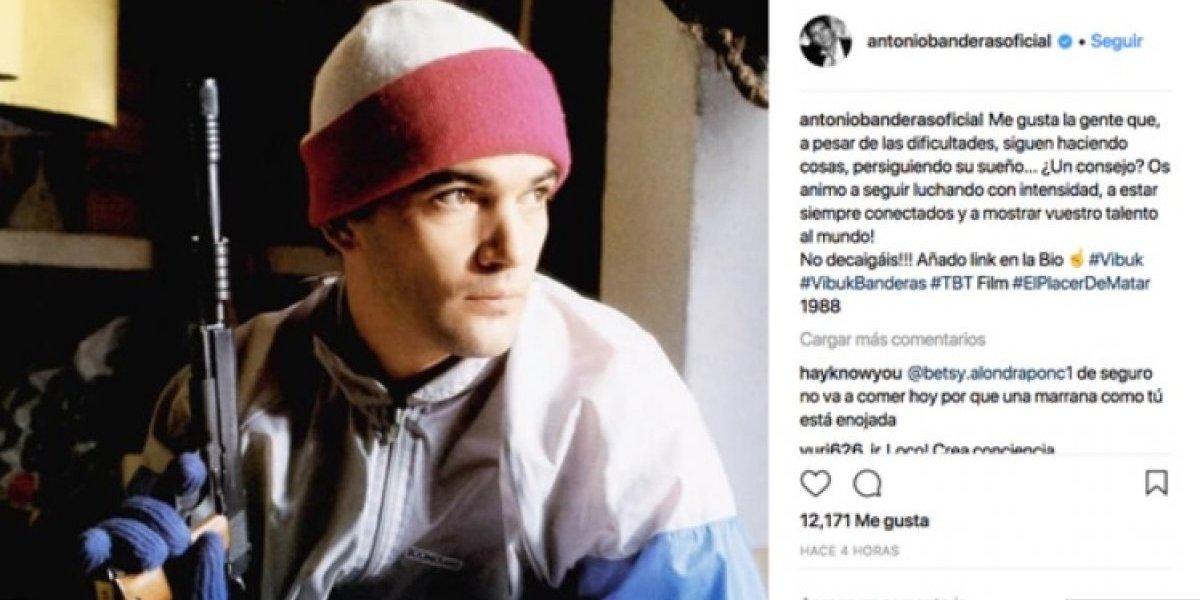 Antonio Banderas pidió disculpas por publicar una controversial foto