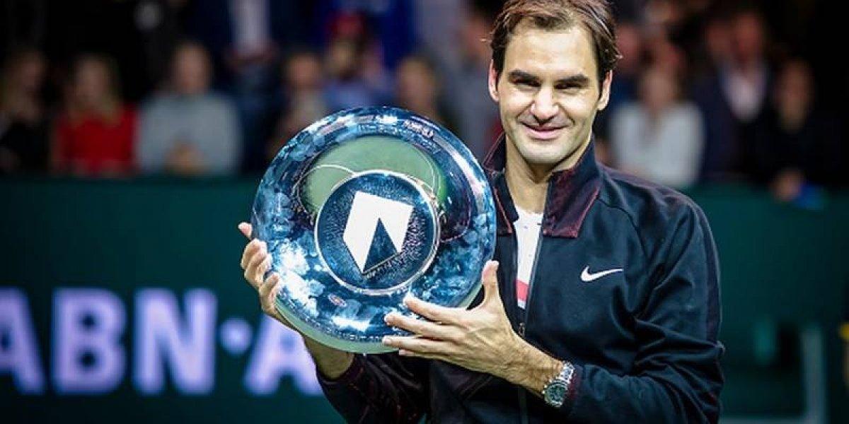 ¡El número uno! Roger Federer se proclama campeón de Rotterdam