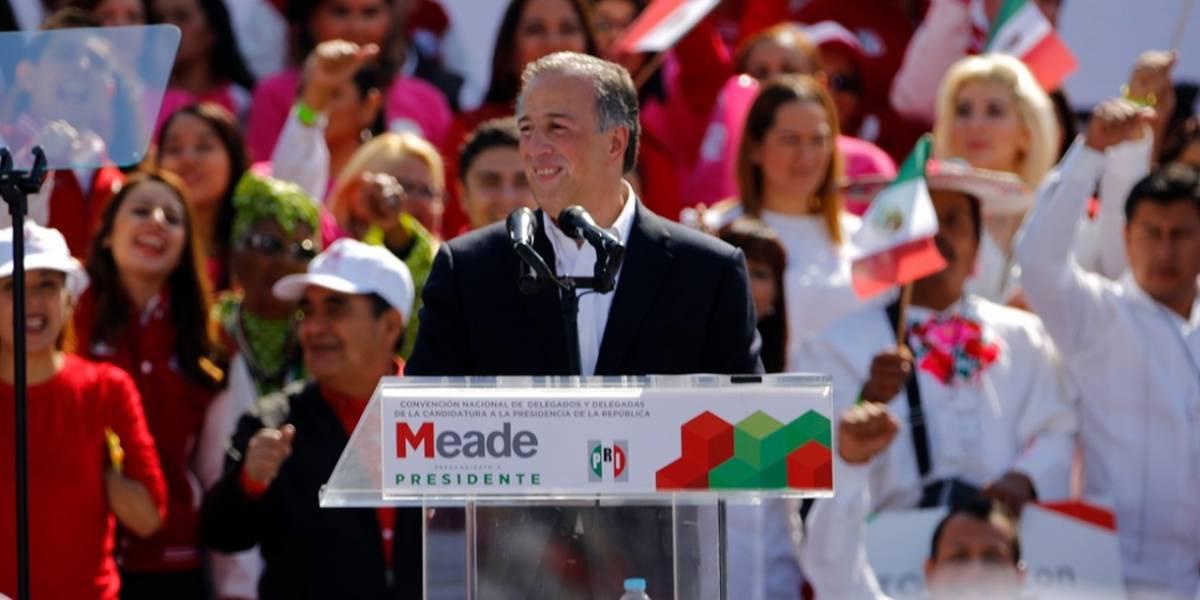 PRI toma protesta a Meade como su candidato presidencial