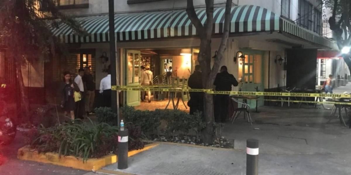 Balacera en restaurante de la Condesa deja un herido
