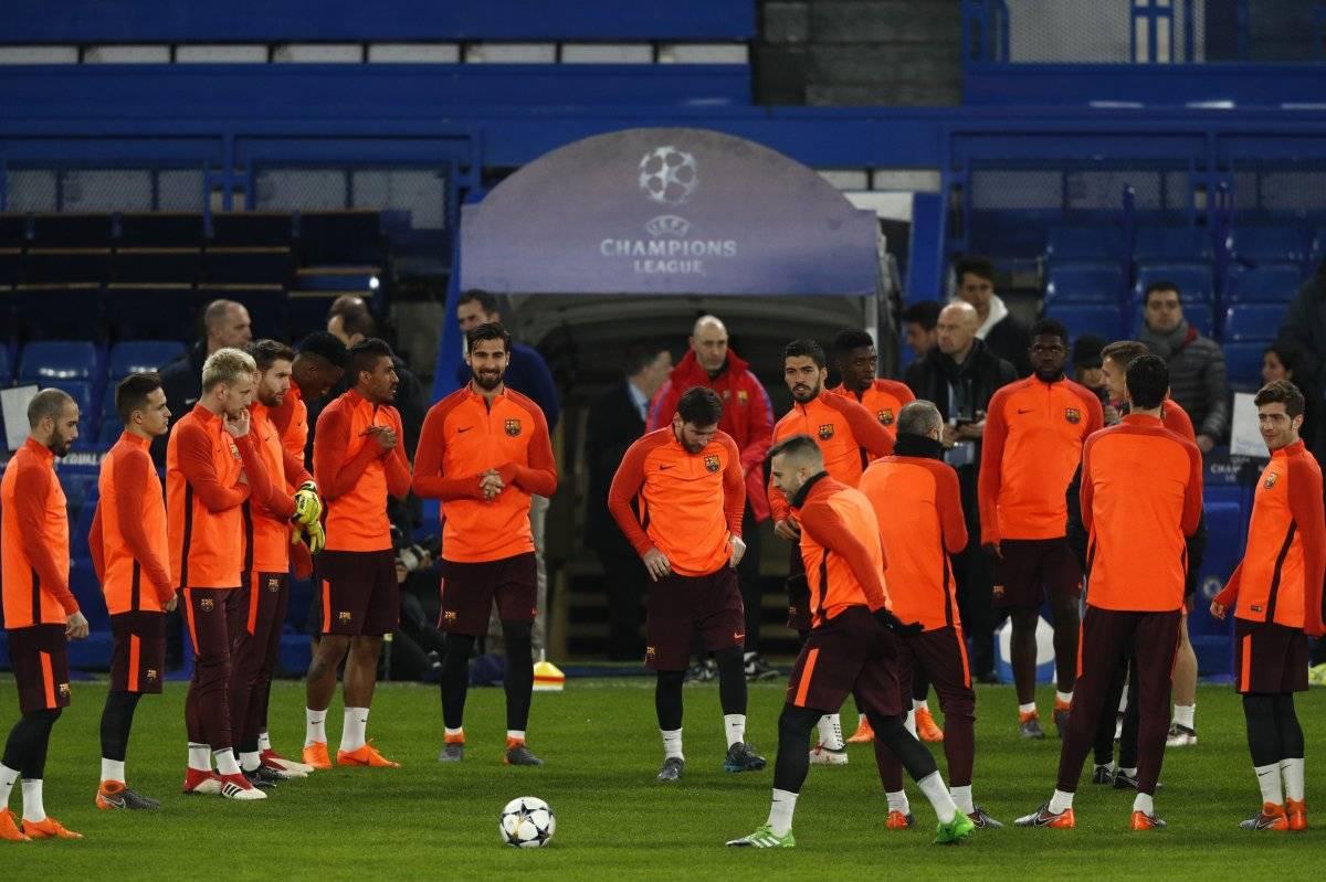 El Barça se entrenó en el Stamford Bridge.