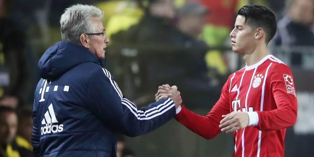 Jupp Heynckes explica por qué mandó a la tribuna a James Rodríguez