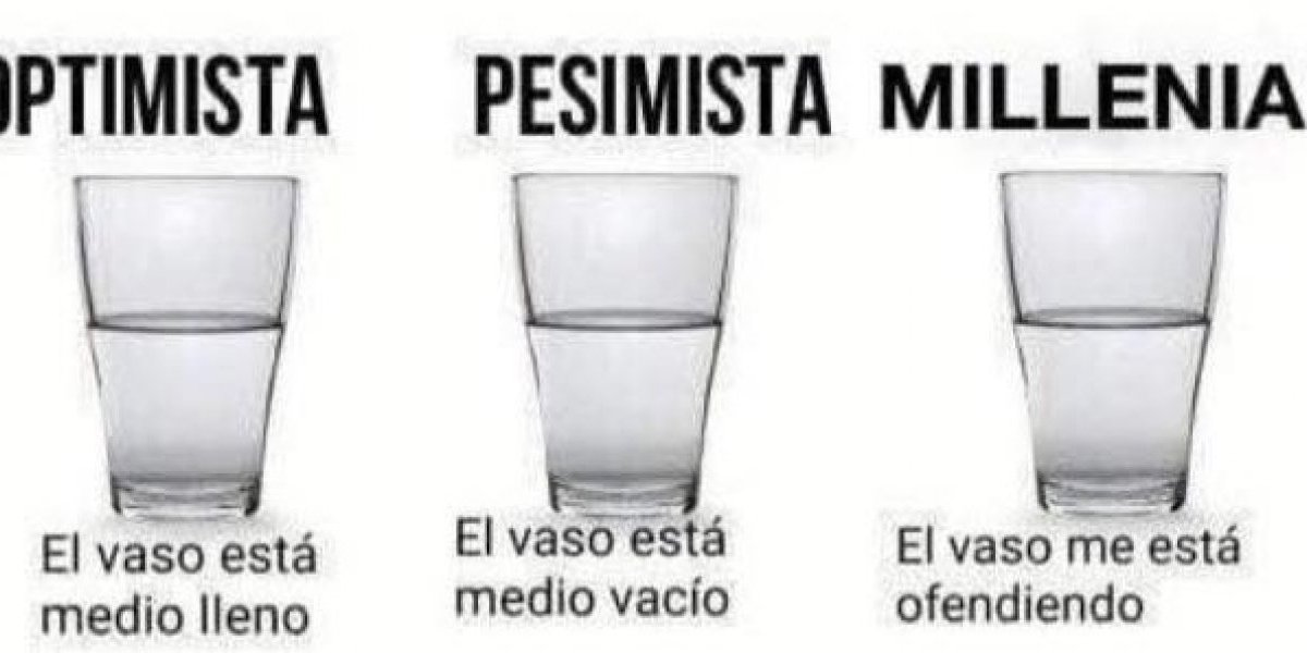"""""""Me está ofendiendo"""": cómo entienden la metáfora del vaso con agua millennials, feministas y conspiracionistas según Twitter"""