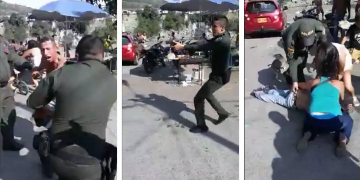 Hombre desarmó a un policía y cuando estaba por disparar, un agente le dio en un pierna