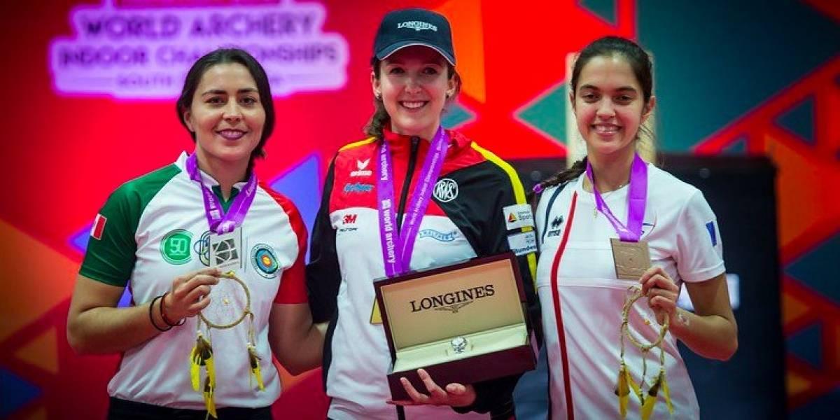 Mexicana Aida Román gana plata en Mundial de Arquería