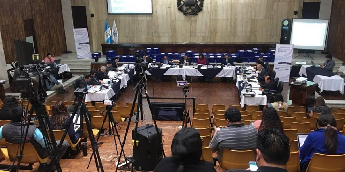 Comisión inicia la exclusión de los candidatos a fiscal