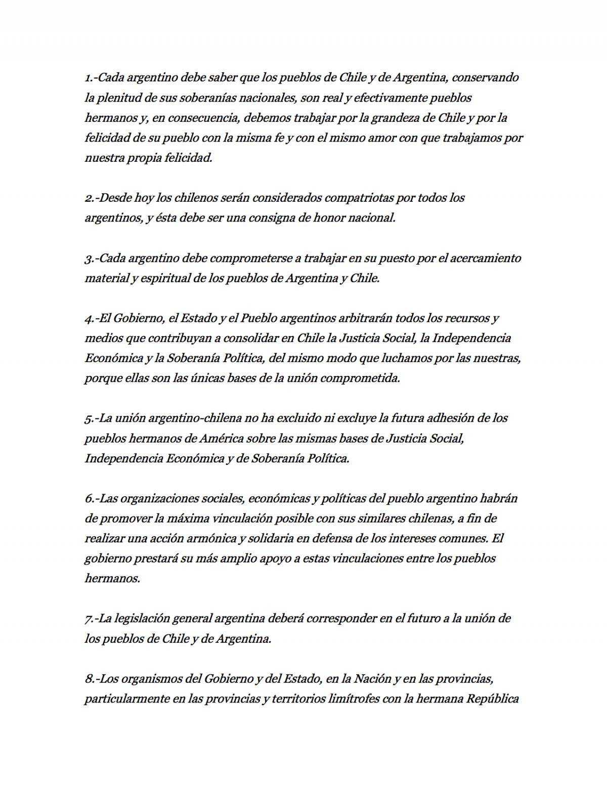 El decálogo de Perón