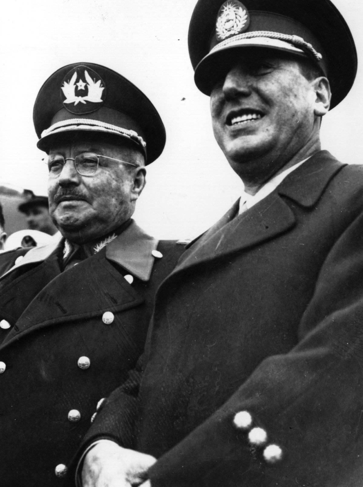 Carlos Ibáñez y Juan Perón
