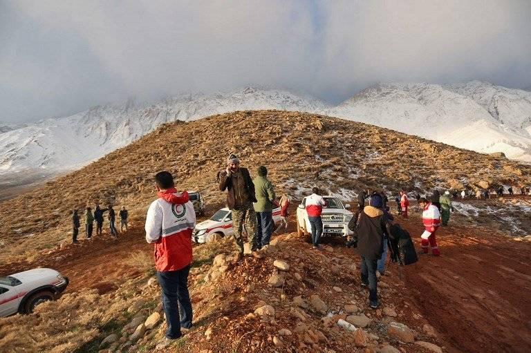 Búsqueda de avión siniestrado en Irán