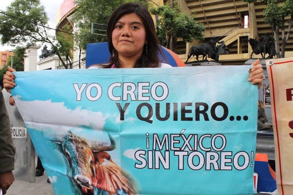 Protesta en la Plaza de Toros